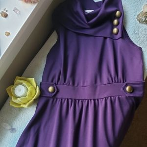 Modcloth coach tour dress in Violet